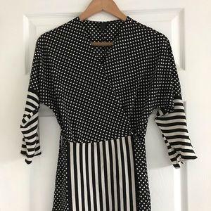 TOPSHOP Asymmetric Wrap Dress